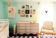 Nursery / Eclectic. Vintage. Boho. Baby. Mix and match. / by Chantal Batchelor