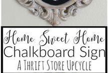 Thrift Store Upcycle / An inspiring group board with simple rules-take an item(s) from a thrift store, yard sale, resale shop etc. and transform it into a new piece of home decor. There is no budget, or theme to stick to so we are free to let our creativity run wild!  Please link to original source. Thrift Store Upcycle Projects only.  Any other pins will be deleted.