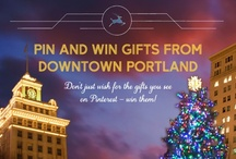 Downtown PDX Wish List / Designer dresses, glittering jewels, handcrafted art... This season, don't just wish for the gifts you see on Pinterest – win them from Downtown Portland. Every week in November and December, we'll be giving away prizes to make Portland proud. Repin to unlock them and enter to win here: http://www.facebook.com/downtownportland/app_143103275748075 / by Downtown PDX