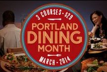 Portland Dining Month 2014 / Your key to the city is a fork. Explore Downtown Portland and beyond this March, when more than 90 restaurants serve up three tasty courses for just $29. Tastes to excite. Savings to savor.  / by Downtown PDX