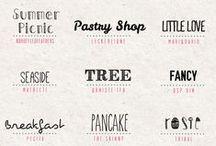 I love Font / Caratteri, abbinamenti, lettering: font, font, e ancora font!