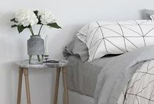 BEDROOM / Bedroom decor inspiration, usual colour themes are grey, soft pink tones and white.