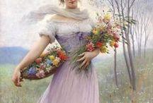 hu- woman and FLOWERS / by MAHGU