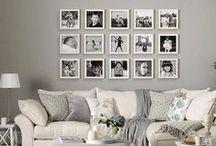 Ściana zdjęć / Pomysły jak rozwiesić ramki na ścianie aby wyglądały pięknie i nowocześnie