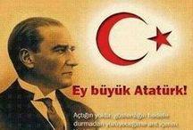☪ The Greatest Leader of Turkey ☪ Mustafa Kemal Ataturk..☪ / RESMINLE HUZUR, ISMINLE GURUR DUYUYORUZ, SENI YUREGIMIZE GOMUYORUZ, SENI COK SEVIYORUZ, ATAM! ☪ / by T.C.Kim Dersin