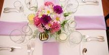 Wedding Centerpieces We Love! / Check out these wedding centerpieces we love. Most photos by Bluff Mountain Inn's in-house photographer.