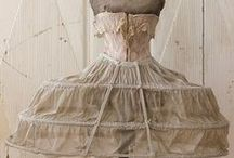 Antique petticoats and bustle