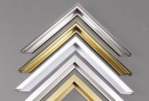 Frames (Picture Frames) / Aluminum picture frames ideal for exhibiting photographs and artwork in galleries and museums. Ultraviolet filtering acrylic protects images from fading. Security picture hanging hardware and acid free board used as backing in frames.