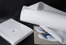 Board & Paper (Acid-Free) / Archival 100% cotton mat board is used in museums for protective window mats for photographs, paper artwork and valuable documents. Acid free papers are used as interleaving between the artwork in storage.