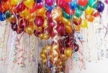 Ceiling Balloons / Free floating balloons create an instant party atmosphere