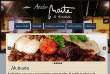 Asador Maite / Aquí mostramos nuestro ultimo trabajo de #diseñoweb en #Bilbao. Asador Maite es un restaurante al mas estilo tradicional que desde 1997 ofrece entre sus especialidades la alubiada y el chuleton.