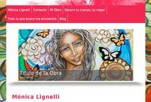 Monica Lignelli / #MonicaLignelli es una persona dedicada en cuerpo y alma a la #pintura. Sus creaciones están llenas de dulzura, seres angelicales y fuerza que consiguen abstraer al espectador de la realidad. Este es nuestro ultimo #diseñoWeb en #Bilbao.