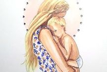 • Mama Hugs Fix Everything • / Mommies hugging their babies. Figure studies. Mother and child. Hugs. Mothers holding babies. A mother's love. Motherhood fashion. Maternity portrait. Snuggles and cuddles. Mommy and me. A mother's love.
