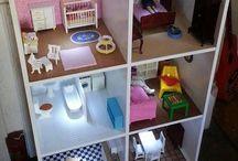 • DIY Dollhouses • / Make your own dollhouse. Build a dollhouse. Playrooms. Little furniture. IKEA hacks. Dollhouse hacks. Room designs. Children's play. Kids room decor. Playhouse. Creative play.
