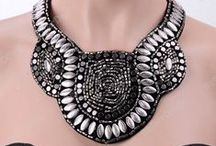 High Contrast Black and White / jewelry, black and white, fashion, spring, summer, 2013, beads, beading, Swarovski, crystal, Czech, glass