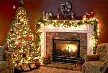 Festive Fireplace decorations