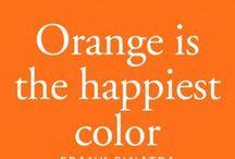 Orange stuff / A Little Orange to Brighten up your day!  A bright, happy, warm color.