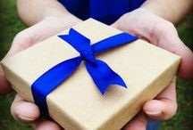 Gift Boxes /  Wrapped with a royal blue ribbon to represent colon cancer awareness, this special box can hold the very piece that can inspire and share a legacy.