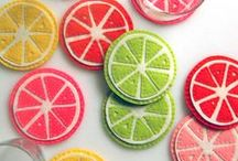 Tropical Fruit Craft & Sewing / Watermelon, Pineapple & Tropical Fruit craft, sewing & papercraft