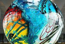 Glass painting, mosaic