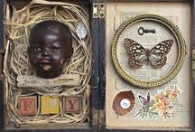 ~ CREATIVE CONSTRUCTION ~ / Sculptures ~ Shaddow Boxes ~ Assemblage ~ Art Dolls / by Florence Langley