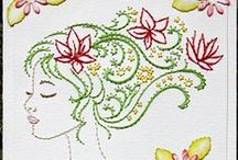Paper Embroidery Cards