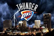 ⚡️OKC Thunder⚡️ / Formerly the Seattle SuperSonics, the team relocated in 2008. In Oklahoma City, the Thunder qualified for their first playoff berth during the 2009–10 season. They followed that success by winning their first division title as the Thunder in the 2010–11 season and their first Western Conference championship as the Thunder in the 2011–12 season, appearing in the NBA Finals for the fourth time in franchise history and first since 1996, when the club was based in Seattle.