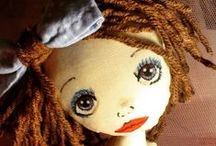 Dolls and Softies / Handmade rag doll... Cloth doll... Fabric doll / by RagLove: handmade