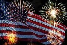 USA icons / I love U. S. A.