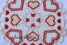 """Let's bead! Beaded doilies - Share Group Board / Let's create a unique board! Add your favorite beaded doily project or your own design. To join the group go to --> www. linea-creativa.eu --> click on """"contact"""" --> send your request or leave a comment on my page, and I will add you to this board!"""