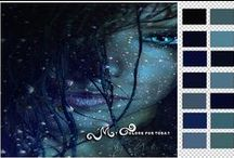 My Colors / My color moods! Every day ! I run my own photoshop action to do this palletes .