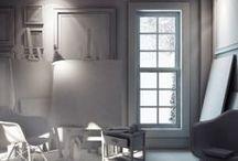 EASEL ROOM / http://zdesigninfo.blogspot.ae/2014/03/easel-room-simple-interior-lighting-set.html