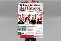 IV Gala Solidaria del Humor / Proyecto de diseño gráfico. Cruz Roja Valencia.  Realización del cartel, invitaciones y faldones para prensa.