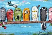 Art journal /  Kesako?c'est tout simplement un journal intime illustré de nos pensées, de nos rêves, de nos citations préférées où les mots sont animés avec des images, des couleurs, de la texture. On s'amuse, on s'exprime, on vit  quoi!  J'espère que ce joli  tableau créé avec des amies créatives va vous inspirer! A vos crayons, pinceaux, papiers et amusez-vous…  Et n'hésitez pas à partager car à votre tour, vous deviendrez une belle source d'inspiration. / by elo bibie