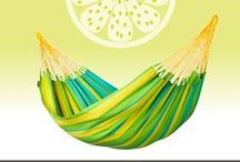 Single hammock Sonrisa Lime / LA SIESTA single hammock Sonrisa from Colombia, where hammocks have always been an essential part of everyday life. in fresh Colors for your garden !!