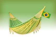 COPA canarina, hammock by LA SIESTA / Our tribute to Brazil and Soccer! COPA is a high-quality double hammock made of pure organic cotton. Traditional Brazilian handicraft, quality, and exceptional comfort.