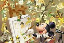 Walt Disney...Mickey Mouse and other disney character