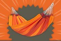 Hammock Orquidea volcano / Cozy single hammock ORQUIDEA volcano – in sunny and warm shades of red and orange.