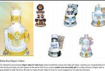 Baby Boy Diaper Cakes / Find perfect baby boy diaper cakes for the newborn baby boy or girl. We provides quality baby boy diaper cakes and baby diaper gifts at best price.