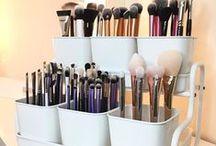 Organized Beauty / Fun & Cool ways to organized makeup!
