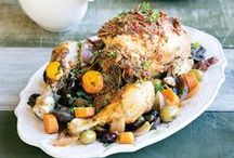 Healthy Sunday Lunch Recipes / Cook up a healthy spread for Sunday lunch including roast chicken and Mediterranean veg, roast lamb, beef wellington, and fantastic healthy sides