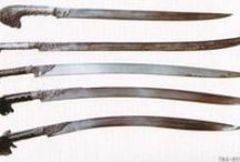 Turkish, Ottoman and Mamluk swords (Only historically accurate) / Sword types include: kilij, yataghan, Black sea yataghan, karabela-yataghan, karabela, pala, shamsir, saber, shashka, tüfek, kara-kulak, saif, arming sword.