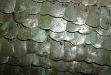 "Scale and lamellar armour from all cultures and periods (Only historically accurate) / Scale armour is an armour made of (usually) metallic scales, which are connected as rows and then sewn onto a fabric or (rarely) leather backing. Lamellar armour is made of lames which are connected with each other, without a backing. Lamellar construction is more rigid and allows less movement, but is somewhat sturdier. The term ""scale mail"" is erroneous, since mail means an armour made of metal rings."