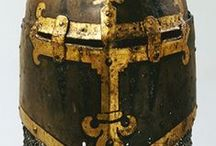 Heaume helmets (Only historically accurate) / Mediæval helmets known as heaume / great helm / topfhelm.
