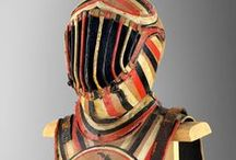 "Theatrical armour (Only historically accurate) / Armour used in theater and other events not life threatening. Most of these were used in Gioco del Ponte, (""Battle of the bridge""), a Pisan event where two teams are dressed in 16th century Spanish costumes and hack each other with narrow shields on a bridge."