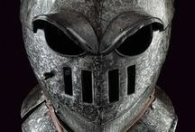 Savoyard helmets (Only historically accurate) / One late form of closed burgonet was common among 17th century heavy cavalry, and merits special mention because its form is so striking. This grim-looking, stylistically spare form, with cutouts for eyes, nose and mouth, so resembled a human skull that Germans and Austrians referred to it as a Totenkopf (death's head) helmet. It is also known by the less dramatic names of Savoyard or Savoy helmet.