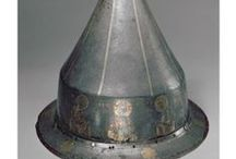 "Eastern Roman helmets and armour 330 – 1453 (Only historically accurate) / Roman empire didn't fall in 476 when Odoacer dethroned the last Western Roman emperor Romulus Augustulus. The empire continued in the Eastern Mediterranean for another millennium, and it was always called just Roman empire (Imperium Romanum or Basileia ton Rhomaion), never a ""Byzantine empire"" at its lifetime. These helmets cover a huge tiem frame from late antiquity to the end of the middle ages."