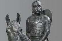 Le cheval / Le cheval est un animal récurrent des collections du Musée d'Archéologie nationale. Ce tableau se propose de donner un aperçu de la présence de cet animal au musée.