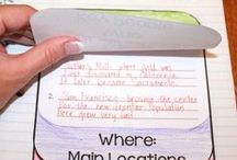 Interactive Notebooks / Interactive notebook ideas, tips, strategies, and printables. Great for reading, math, social studies, geography, and science for 3rd grade, 4th grade, 5th grade, and middle school!