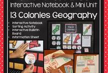 Colonial America Activities / Elementary and Middle School students learning about Colonial America will love these fun Social Studies lesson plans, ideas, and activities! Colonial American jobs, maps, and homes are here for 4th, 5th, and 6th grade teachers to explore!